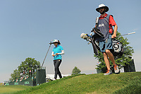 Tiffany Joh (USA) departs the 16th tee during Thursday's first round of the 72nd U.S. Women's Open Championship, at Trump National Golf Club, Bedminster, New Jersey. 7/13/2017.<br /> Picture: Golffile | Ken Murray<br /> <br /> <br /> All photo usage must carry mandatory copyright credit (&copy; Golffile | Ken Murray)