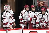Peter Traber (Harvard - 32), Greg Gozzo (Harvard - 13), Jake Horton (Harvard - 91), Devin Tringale (Harvard - 22) -  - The Harvard University Crimson defeated the visiting Colgate University Raiders 7-4 (EN) on Saturday, February 20, 2016, at Bright-Landry Hockey Center in Boston, Massachusetts.