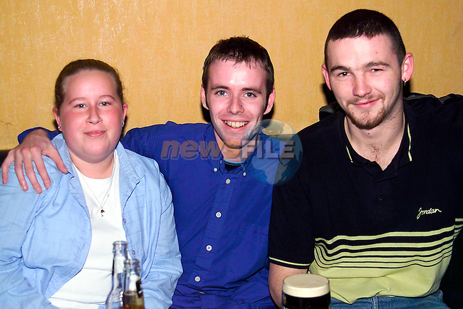 Jennifer O'Connor, Paddy Hill and Shane Clarke enjoying a night out in Solas..Picture: Paul Mohan/Newsfile