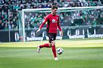 13.04.2019, Weser Stadion, Bremen, GER, 1.FBL, Werder Bremen vs SC Freiburg, <br /> <br /> DFL REGULATIONS PROHIBIT ANY USE OF PHOTOGRAPHS AS IMAGE SEQUENCES AND/OR QUASI-VIDEO.<br /> <br />  im Bild<br /> <br /> Pascal Stenzel (SC Freiburg #15)<br /> Einzelaktion, Ganzkörper / Ganzkoerper<br /> <br /> Foto © nordphoto / Kokenge