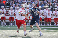 College Park, MD - March 18, 2017: Villanova Wildcats Jack Curran (19) passes the ball during game between Villanova and Maryland at  Capital One Field at Maryland Stadium in College Park, MD.  (Photo by Elliott Brown/Media Images International)