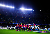 5th December 2017, Camp Nou, Barcelona, Spain; UEFA Champions League football, FC Barcelona versus Sporting Lisbon; FC Barcelona Team goes to the pitch