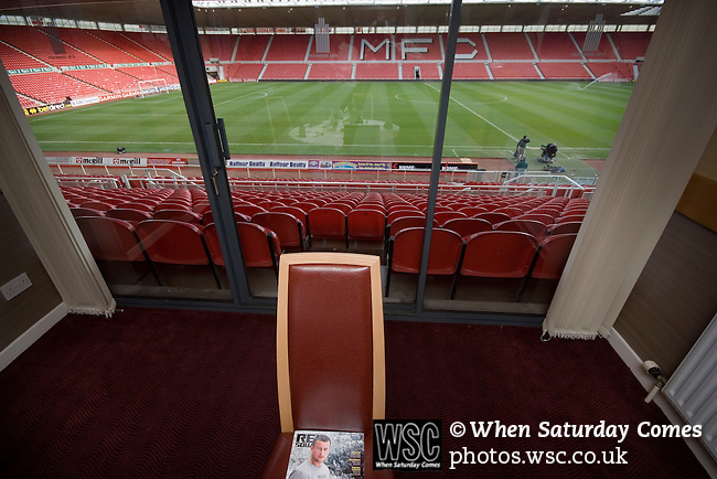 Middlesbrough 0 Wigan Athletic 0, 21/02/2009. The Riverside Stadium, Middlesbrough. Premier League. Photo by Paul Thompson. Executive boxes at the Riverside Stadium.