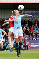 Gemma Bonner of Manchester City Women and Daniwlle van de Donk of Arsenal Women during Arsenal Women vs Manchester City Women, FA Women's Super League Football at Meadow Park on 11th May 2019