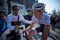 Laurent Didier (LUX/Trek Factory Racing) post-race<br /> <br /> 79th Fl&egrave;che Wallonne 2015