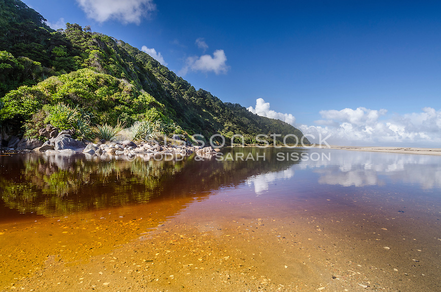 Karamea, Kohaihai, Beach, West Coast, New Zealand - stock photo, canvas, fine art print