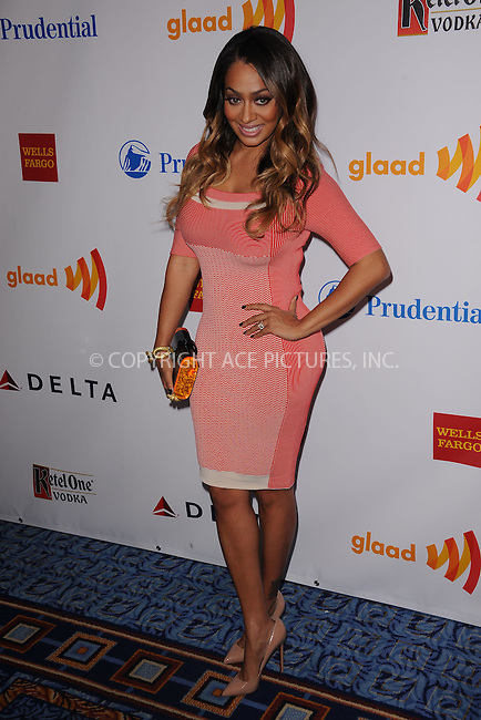 WWW.ACEPIXS.COM . . . . . .March 24, 2012...New York City....LaLa Anthony attends the 23rd Annual GLAAD Media Awards at the Marriot Marquis Hotel on March 24, 2012  in New York City ....Please byline: KRISTIN CALLAHAN - ACEPIXS.COM.. . . . . . ..Ace Pictures, Inc: ..tel: (212) 243 8787 or (646) 769 0430..e-mail: info@acepixs.com..web: http://www.acepixs.com .