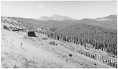 D&amp;RGW Marshall Pass snowsheds and snow fences - looking southeast.<br /> D&amp;RGW  Marshall Pass, CO  Taken by Richardson, Robert W.