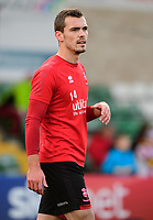 Lincoln City's Harry Toffolo during the pre-match warm-up<br /> <br /> Photographer Chris Vaughan/CameraSport<br /> <br /> Emirates FA Cup First Round - Lincoln City v Northampton Town - Saturday 10th November 2018 - Sincil Bank - Lincoln<br />  <br /> World Copyright © 2018 CameraSport. All rights reserved. 43 Linden Ave. Countesthorpe. Leicester. England. LE8 5PG - Tel: +44 (0) 116 277 4147 - admin@camerasport.com - www.camerasport.com