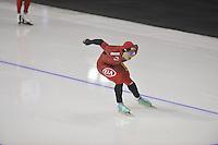 SPEEDSKATING: CALGARY: 15-11-2015, Olympic Oval, ISU World Cup, 1500m, Bailin Li (CHN), ©foto Martin de Jong