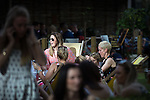 © Joel Goodman - 07973 332324 . 04/07/2015 . Manchester , UK . People in  the sunshine in Spinningfields , central Manchester , this evening (4th July 2015) . Photo credit : Joel Goodman