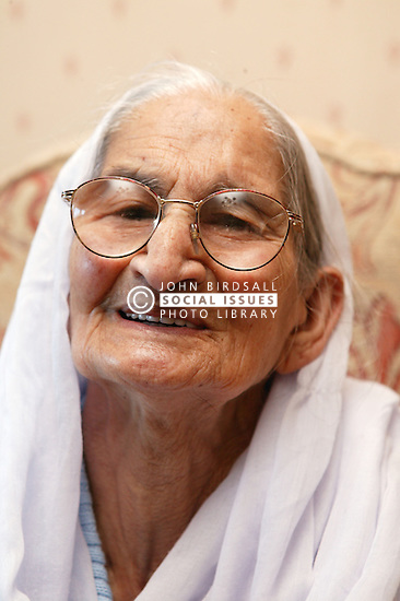 Portrait of a Sikh elderly grandmother,