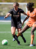 Kristen Graczyk of Gold Pride in action during the game against Sky Blue at Pioneer Stadium - CSU Easy Bay, Hayward, California on June 27th, 2010.  Sky Blue FC defeated Gold Pride, 2-0.