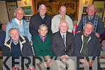 Enjoying his 80th birthday party was John Coleman(front 2nd left) from Tarbert, pictured here celebrating with the remaining members of the famous Tarbert team of 1957, pictured here last Friday night in Carmody's Bar, Tarbert. F l-r: John Kennelly, John Coleman, Sean Guerin, Danny Enright. B l-r: Finbar Carrig, Richie Lyndon, Moss Mulvihill and Michael Carmody.