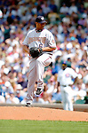 1 July 2005: Livan Hernandez, starting pitcher for the Washington Nationals, wins his 11th straight game of the season  against the Chicago Cubs. The visiting Nationals defeated the Cubs 4-3 at Wrigley Field in Chicago.  Mandatory Photo Credit: Ed Wolfstein
