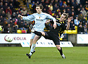 02/02/2008    Copyright Pic: James Stewart.File Name : sct_jspa06_livingston_v_partick_th.MARK TWADDLE CHALLENGES ALAN WALKER AAS HE TRIE TO SHOOT.James Stewart Photo Agency 19 Carronlea Drive, Falkirk. FK2 8DN      Vat Reg No. 607 6932 25.Studio      : +44 (0)1324 611191 .Mobile      : +44 (0)7721 416997.E-mail  :  jim@jspa.co.uk.If you require further information then contact Jim Stewart on any of the numbers above........