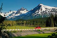 The Seward Highway in the Chugach National Forest, Kenai Peninsula, Alaska