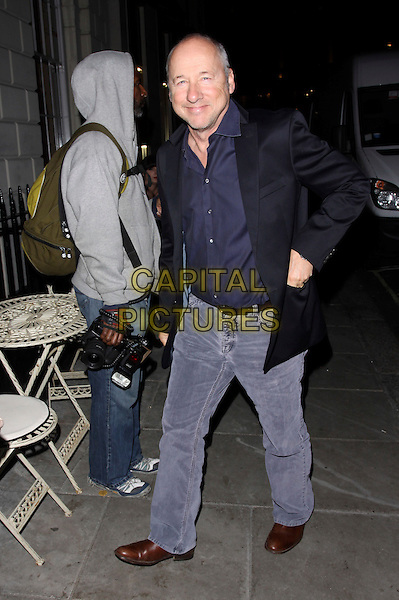 MARK KNOPFLER.At the Salman Rushdie Book Launch event, Sketch, London, England, UK, October 11th 2010..full length black jacket jeans navy blue shirt .CAP/AH.©Adam Houghton/Capital Pictures.