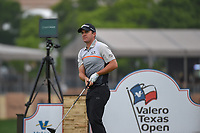 Ryan Blaum (USA) watches his tee shot on 11 during day 1 of the Valero Texas Open, at the TPC San Antonio Oaks Course, San Antonio, Texas, USA. 4/4/2019.<br /> Picture: Golffile | Ken Murray<br /> <br /> <br /> All photo usage must carry mandatory copyright credit (© Golffile | Ken Murray)