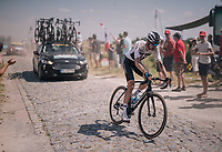 Wout Poels (NED/SKY) at the end of pav&eacute; sector #9<br /> <br /> Stage 9: Arras Citadelle &gt; Roubaix (154km)<br /> <br /> 105th Tour de France 2018<br /> &copy;kramon