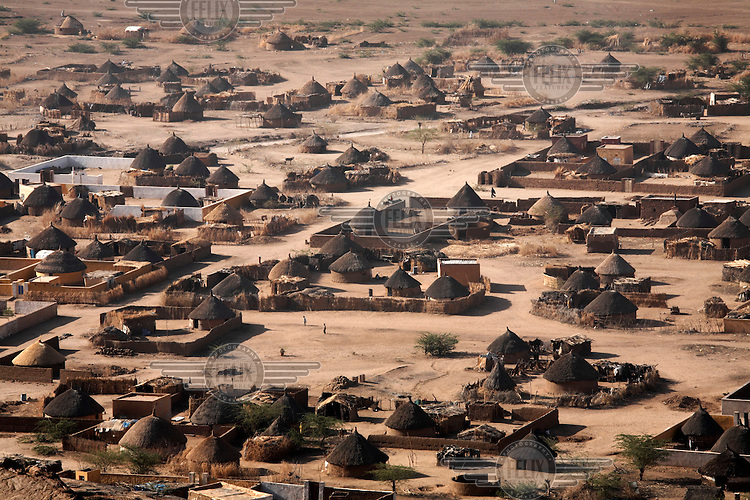 Traditional homes near the town of Kassala.