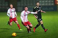 Mark McKee of Stevenage and Jamie Murphy of Brighton during Stevenage vs Brighton & Hove Albion Under-21, Checkatrade Trophy Football at the Lamex Stadium on 7th November 2017