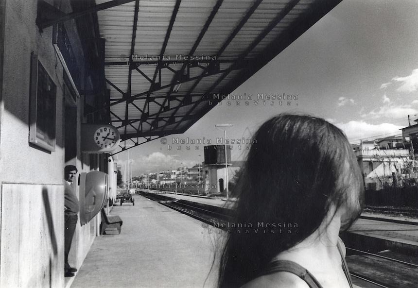 Railway station in Alcamo,Trapani, Sicily.<br /> Stazione di Alcamo, Trapani, Sicilia