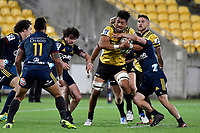 Hurricanes&rsquo; Ardie Savea in action during the Super Rugby - Hurricanes v Highlanders at Westpac Stadium, Wellington, New Zealand on Friday 8 March 2019. <br /> Photo by Masanori Udagawa. <br /> www.photowellington.photoshelter.com