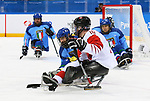 Pyeongchang, Korea, 11/3/2018-Ben Delaney of Canada plays Italy in hockey during the 2018 Paralympic Games in PyeongChang. Photo Scott Grant/Canadian Paralympic Committee.