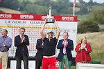 Frenchman Gregory Bourdy celebrates winning the ISPS Handa Wales Open 2013 at the Celtic Manor Resort.<br /> <br /> 01.09.13<br /> <br /> &copy;Steve Pope-Sportingwales