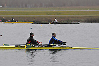 052 AbingdonRC IM3.2x..Marlow Regatta Committee Thames Valley Trial Head. 1900m at Dorney Lake/Eton College Rowing Centre, Dorney, Buckinghamshire. Sunday 29 January 2012. Run over three divisions.
