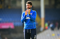Lincoln City manager Danny Cowley applauds the fans at the final whistle<br /> <br /> Photographer Andrew Vaughan/CameraSport<br /> <br /> The EFL Sky Bet League Two - Port Vale v Lincoln City - Saturday 14th April 2018 - Vale Park - Burslem<br /> <br /> World Copyright &copy; 2018 CameraSport. All rights reserved. 43 Linden Ave. Countesthorpe. Leicester. England. LE8 5PG - Tel: +44 (0) 116 277 4147 - admin@camerasport.com - www.camerasport.com