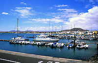 Boats and yachts at Corralejo,Fuerteventura, Canary Islands.