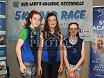 Eva Cummins, Lois O'Hare and Lily Cummins at the launch of Our Lady's College Greenhills 5k Run in Integral Fitness. Photo:Colin Bell/pressphotos.ie