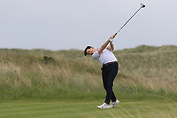 Richard Knightly (Royal Dublin) on the 9th tee during Round 1 of The East of Ireland Amateur Open Championship in Co. Louth Golf Club, Baltray on Saturday 1st June 2019.<br /> <br /> Picture:  Thos Caffrey / www.golffile.ie<br /> <br /> All photos usage must carry mandatory copyright credit (© Golffile | Thos Caffrey)