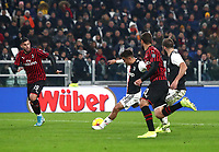 Calcio, Serie A: Juventus - Milan, Turin, Allianz Stadium, November 10, 2019.<br /> Juventus' Paulo Dybala (c) scores during the Italian Serie A football match between Juventus and Milan at the Allianz stadium in Turin, November 10, 2019.<br /> UPDATE IMAGES PRESS/Isabella Bonotto