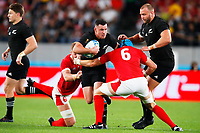 1st November 2019, Tokyo, Japan;  Ryan Crotty (NZL) is tackled by Justin Tipuric of Wales;  2019 Rugby World Cup 3rd place match between New Zealand 40-17 Wales at Tokyo Stadium in Tokyo, Japan.  - Editorial Use