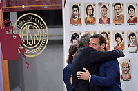 Francesco Totti and Paulo Roberto Falcao on All of Fame of AS Roma <br />  during the Uefa Champions League 2018/2019 Group G football match between AS Roma and Real Madrid at Olimpico stadium Allianz Stadium, Rome, November, 27, 2018 <br />  Foto Antonietta Baldassarre / Insidefoto