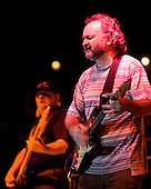 Tinsley Ellis plays the blues with his bass player, The Evil One, at the 2007 Marquette Area Blues Fest in Marquette Michigan.