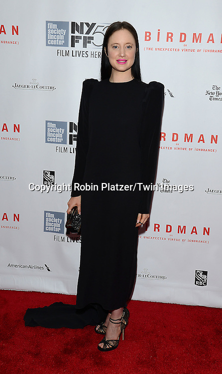 actress Andrea Riseborough attends &quot;Birdman or The Unexpected Virtue of Ignorance&quot; screening at The 52nd New York Film Festival on October 11, 2014 at Alice Tully Hall in New York City. <br /> <br /> photo by Robin Platzer/Twin Images<br />  <br /> phone number 212-935-0770
