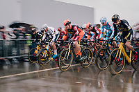race start with CX World Champion Mathieu Van Der Poel (NED/Correndon-Circus) in the first line<br /> <br /> Superprestige cyclocross Hoogstraten 2019 (BEL)<br /> Elite Men's Race<br /> <br /> ©kramon