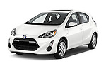 2015 Toyota Prius c Three 5 Door Hatchback Angular Front stock photos of front three quarter view