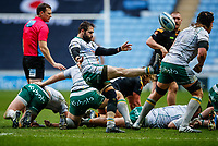 5th January 2020; Ricoh Arena, Coventry, West Midlands, England; English Premiership Rugby, Wasps versus Northampton Saints; Cobus Reinach of Northampton Saints kicks the ball clear - Editorial Use
