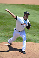 Erie Seawolves starting pitcher Drew VerHagen #43 during a game against the New Britain Rock Cats on June 20, 2013 at Jerry Uht Park in Erie, Pennsylvania.  New Britain defeated Erie 2-0.  (Mike Janes/Four Seam Images)
