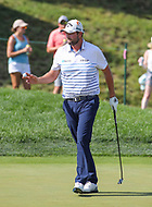 Potomac, MD - June 30, 2018: Marc Leishman (AUS) after he made his putt during Round 3 at the Quicken Loans National Tournament at TPC Potomac in Potomac, MD, June 30, 2018.  (Photo by Elliott Brown/Media Images International)
