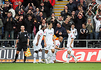 Pictured: Darren Pratley (centre) of Swansea City<br /> Re: Coca Cola Championship, Swansea City Football Club v Southampton at the Liberty Stadium, Swansea, south Wales 25 October 2008.<br /> Picture by Dimitrios Legakis Photography, Swansea, 07815441513