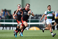 Rhodri Williams of the Dragons runs in a first half try. Pre-season friendly match, between Ealing Trailfinders and the Dragons on August 11, 2018 at the Trailfinders Sports Ground in London, England. Photo by: Patrick Khachfe / Onside Images