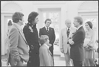 Jimmy Carter with Johnny Cash and family at the White House<br /> <br /> , on 14 June 1977