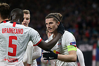 Marcel Sabitzer of RB Leipzig celebrates scoring the second goal during RB Leipzig vs Tottenham Hotspur, UEFA Champions League Football at the Red Bull Arena on 10th March 2020