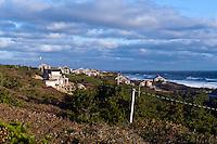 Waterfront houses overlooking the Cape Cod National Seashore, Wellfleet, Cape Cod, MA, USA